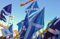 Yes Groups Aberdeen Independence Movement - AUOB March